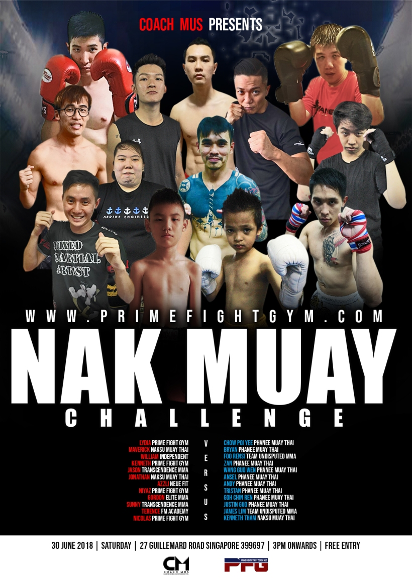NAK MUAY CHALLENGE FIGHT CARD POSTER